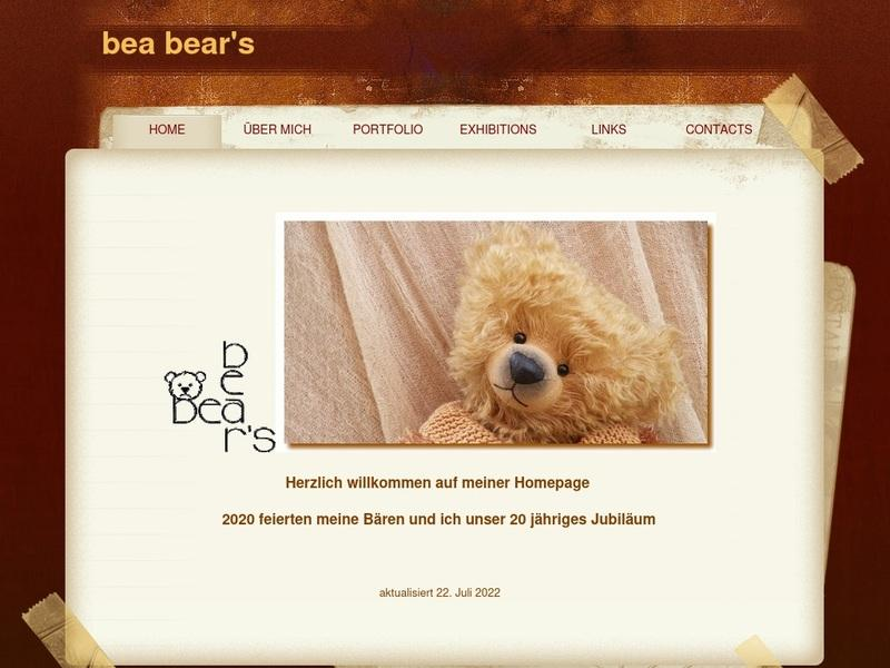 Screenshot von http://www.bea-bears.ch